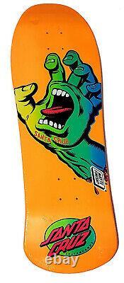 Santa Cruz Screaming Hand 10 Preissue Shaped Skateboard Deck Jim Phillips RARE
