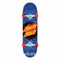 Santa Cruz Skateboard Complete Flame Dot Blue 7.5 x 28.25 Assembled