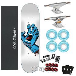 Santa Cruz Skateboard Complete Screaming Hand 8.25 WithIndependent & Soft Wheels