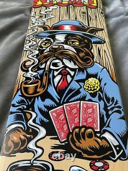 Santa Cruz Skateboard Deck Sid Melvin Dog Poker 8.125 X 31.7 RARE