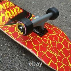 Santa Cruz Skateboards Complete Skateboard Flame Dot Logo Full Red 8.25 New