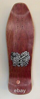 Santa Cruz Soren Aaby Coat of Arms OG NOS Skateboard Deck Rot 1989 Oldschool