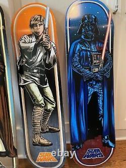 Santa Cruz Star Wars Limited Edition Skateboard Decks- Full Set-11 boards
