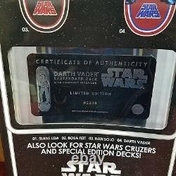 Santa Cruz Star Wars Skateboard Darth Vader Deck with COA Limited Edition #2330