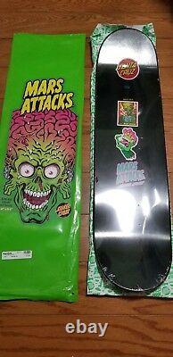 Santa Cruz x Mars Attacks Atomic Galaxy #3 8.25 Black Skate Deck LIMITED Topps