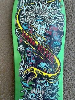 Santa cruz skateboard jason jessee neptune deck rare limited powell vision