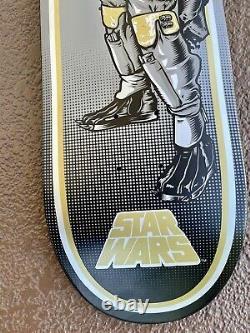 Santa cruz skateboard star wars boba fett deck rare limited powell primitive