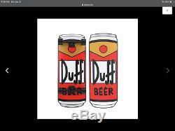 Simpsons Santa Cruz Duff Beer Can Rare Cruiser Complete Skateboard NEW