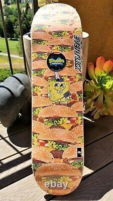 SpongeBob SquarePants Krabby Patty Everslick Santa Cruz Skateboard Deck 8.0