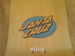 Ultra Rare Santa Cruz Claus Grabke Reissue Skateboard Deck Natural Stain