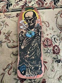 Vintage 1988 Santa Cruz Jeff Kendall'Atom Man' Blacktop Skateboard Deck