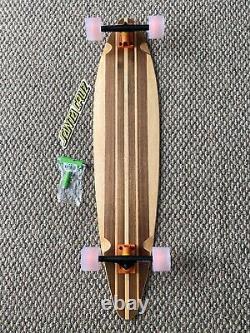 Walnut Custom Longboard Complete 42 X9.5 With Nos Santa Cruz Decal And T Tool